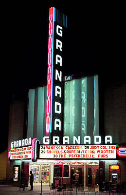 Photograph - Granada Theater V2 32417 by Rospotte Photography
