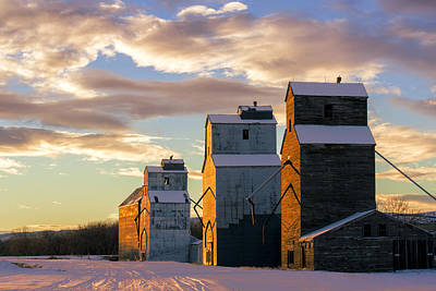 Prairie Photograph - Granary Row by Todd Klassy