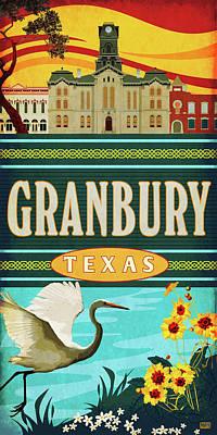 Granbury, Texas Art Print