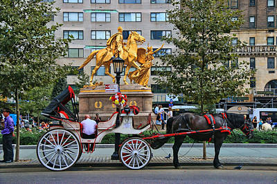 Photograph - Grand Army Plaza - N Y C by Allen Beatty