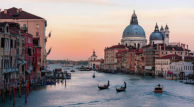 Photograph - Grand Canal At Dusk - Venice by Barry O Carroll