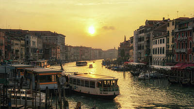 Photograph - Grand Canal At Sunset by James Billings