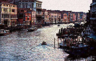 Photograph - Grand Canal At Sunset by Joe Bonita