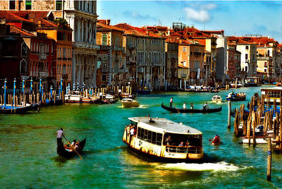 Photograph - Grand Canal Daytime by Harry Spitz
