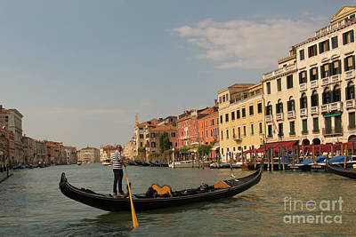 Photograph - Grand Canal Gondola by Loriannah Hespe