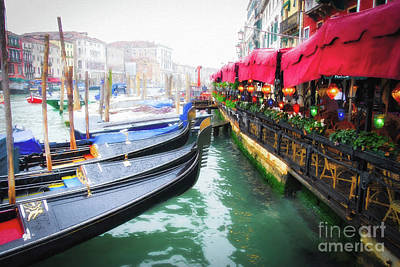 Art Print featuring the photograph Grand Canal In Venice # 2 by Mel Steinhauer