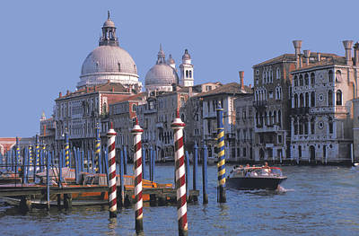Photograph - Grand Canal In Venice by Carl Purcell