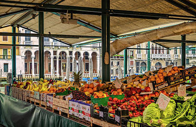 Photograph - Grand Canal Produce Market by Carolyn Derstine