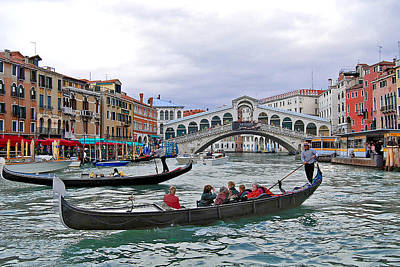 Photograph - Grand Canal Scene  by Caroline Stella