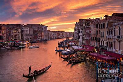 Grand Canal Sunset Art Print by Brian Jannsen