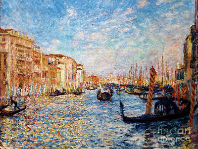 Painting - Grand Canal Venice 1881 by Auguste Renoir