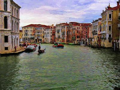 Photograph - Grand Canal, Venice, Italy by Helaine Cummins