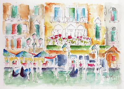 Painting - Grand Canal Venice Near Rialto by Pat Katz