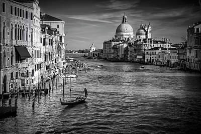 Accademia Photograph - Grand Canal View by Andrew Soundarajan