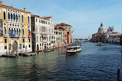 Grand Canal View At The Academy Bridge Art Print by George Oze