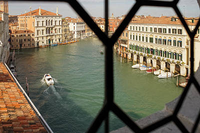 Photograph - Grand Canal View From My Venetian Palace Window by Georgia Mizuleva