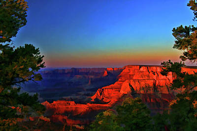 Photograph - Grand Canyon   # 23 - Grandview Sunset by Allen Beatty