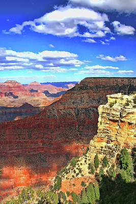 Photograph - Grand Canyon # 22 - Mather Point Overlook by Allen Beatty