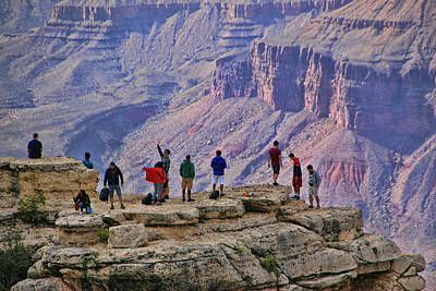 Photograph - Grand Canyon # 26 - Mather Point Overlook by Allen Beatty
