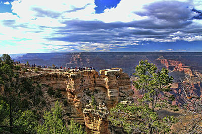 Photograph - Grand Canyon   # 41 - Mather Point Overlook by Allen Beatty