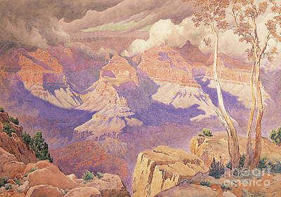 The Grand Canyon Painting - Grand Canyon, 1927  by Gunnar Widforss