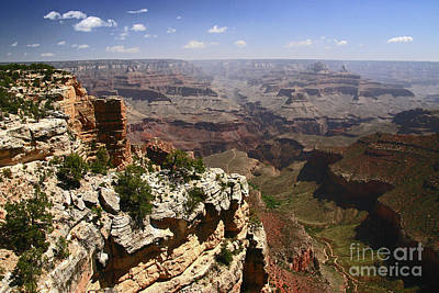Photograph - Grand Canyon #  5 - Bright Angel Trail by Allen Beatty