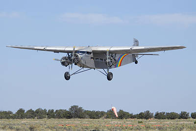 Ford Trimotor Photograph - Grand Canyon Airlines Ford 5-at-c Trimotor N414h Valle Az by Brian Lockett