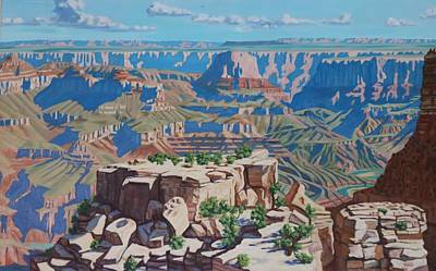 Painting - Grand Canyon  by Allen Kerns