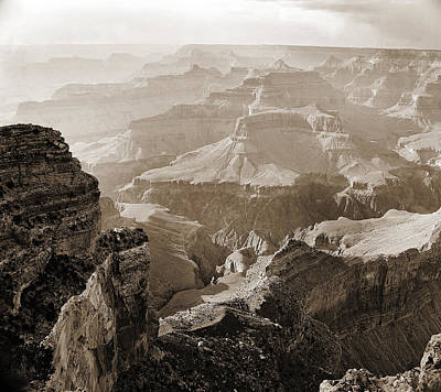 Photograph - Grand Canyon Arizona Fine Art Photograph In Sepia 3527.01 by M K Miller
