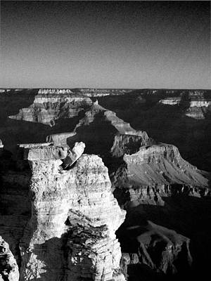Photograph - Grand Canyon Black And White by Joshua House