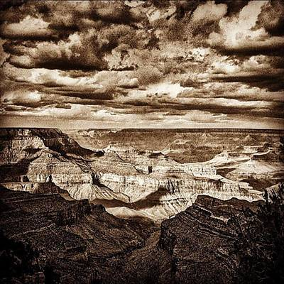 University Photograph - Grand Canyon Black And White Negative by Alex Snay