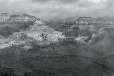 Photograph - Grand Canyon-bw by Jonathan Nguyen