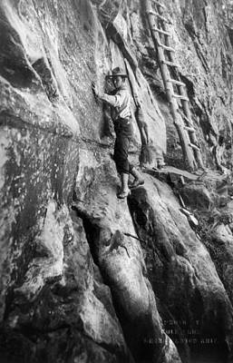 Photograph - Grand Canyon: Climber by Granger