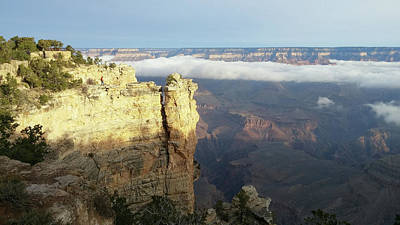 Photograph - Grand Canyon Clouds At Sunrise by Liza Eckardt