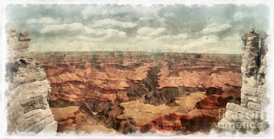 Grand Canyon Digital Art - Grand Canyon by Edward Fielding