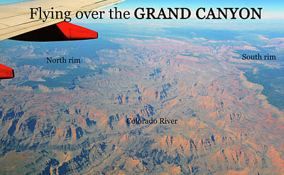 Photograph - Grand Canyon Flight by David Lee Thompson