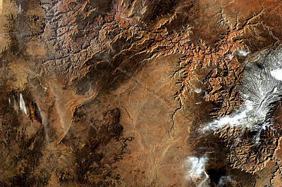 Photograph - Grand Canyon From Iss Enhanced by Weston Westmoreland