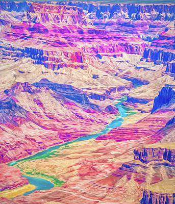 Digital Art - Grand Canyon Impressionist Digital Art by Randy Herring