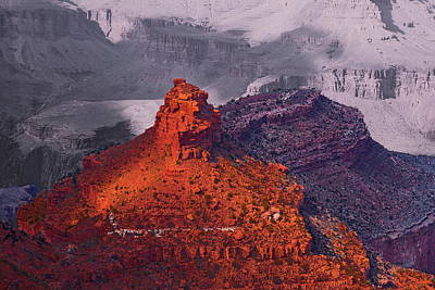 Outlook Photograph - Grand Canyon In Red And Blue by Viktor Savchenko