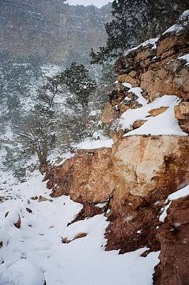 Grand Canyon In Snow Art Print by Ruth Sharton
