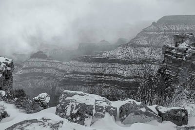 Photograph - Grand Canyon In The Fog by Jonathan Nguyen
