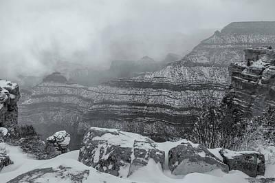 Grand Canyon In The Fog Art Print