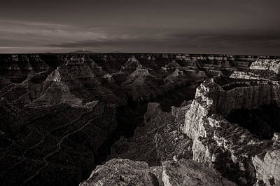 Wonders Of The World Photograph - Grand Canyon Monochrome by Scott McGuire