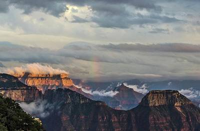 Photograph - Grand Canyon Monsoon Rainbow by Gaelyn Olmsted