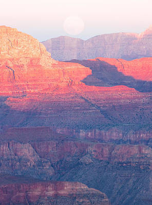 Photograph - Grand Canyon Moonrise by Carl Amoth