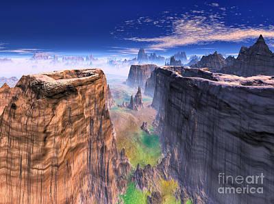 Grand Canyon Mixed Media - Grand Canyon Mountain . by Heinz G Mielke