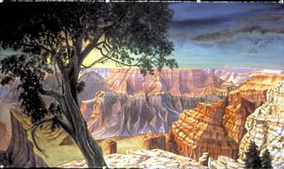 Grand Canyon Art Print by Nancy  Ethiel