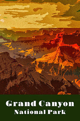 Digital Art - Grand Canyon National Park by Chuck Mountain