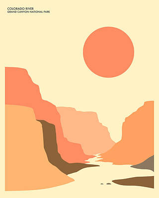 Grand Canyon Digital Art - Grand Canyon National Park by Jazzberry Blue