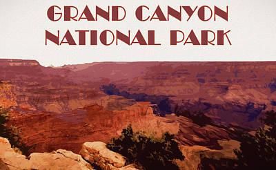 Mixed Media - Grand Canyon National Park Poster by Dan Sproul